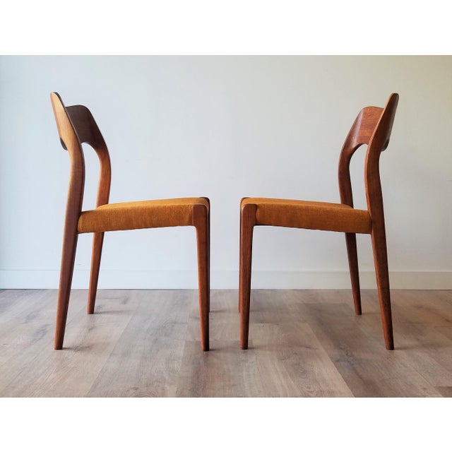 1960s Newly Upholstered 1960s Niels Moller Model 71 Dining Chairs - Set of 6 For Sale - Image 5 of 13