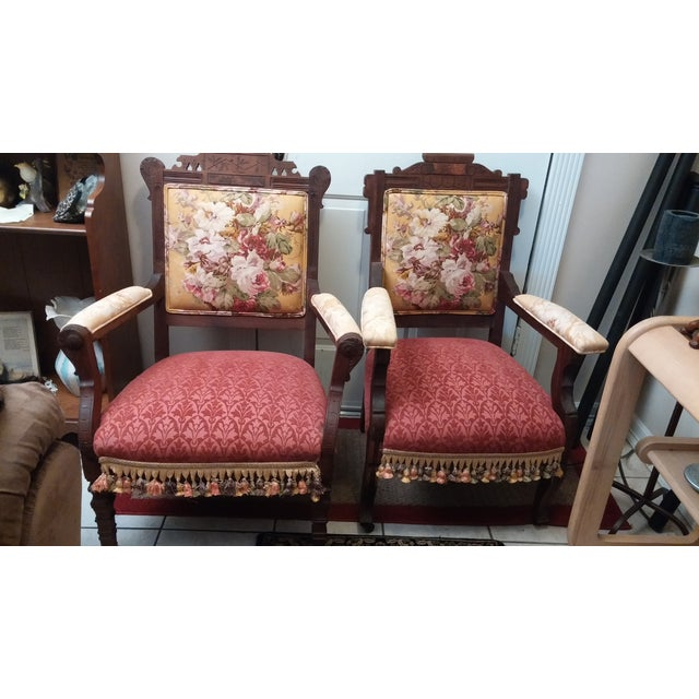 Vintage Eastlake Armchairs - A Pair - Image 10 of 11
