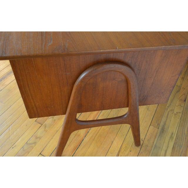 Brown Svend Madsen Model Sh 180 Danish Modern Teak Writing Desk For Sale - Image 8 of 10