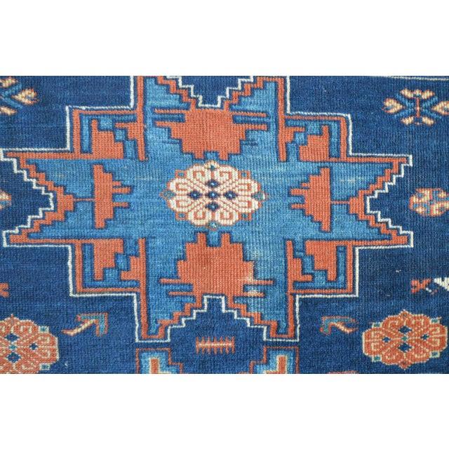 "Vintage Caucasian Kazak Rug - 3'6"" X 4'8"" - Image 8 of 9"