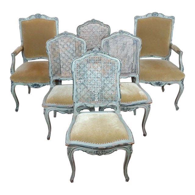 Prime 19Th Century French Painted Dining Chairs Set Of 6 Gmtry Best Dining Table And Chair Ideas Images Gmtryco