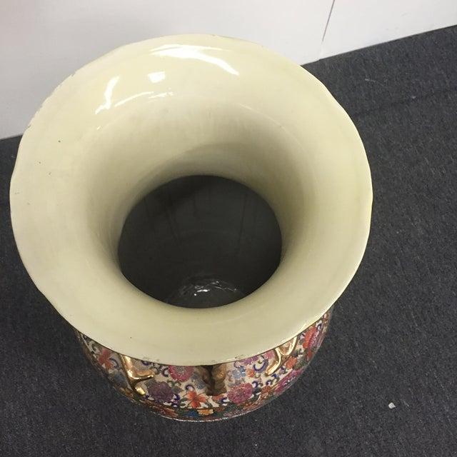 Asian Golden Floral Vase - Image 7 of 7