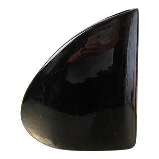 Vintage Haeger Black Triangular Vase For Sale