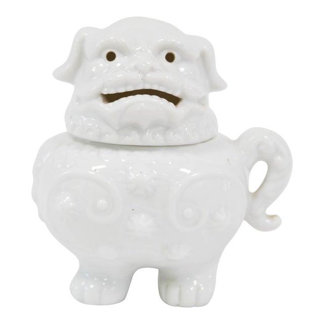 Blanc De Chine Foo Dog Incense Burner - Image 1 of 6