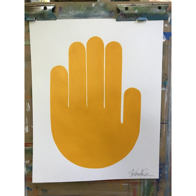 2010s Talk to the Hands Original Paintings - Set of 4 For Sale - Image 5 of 6