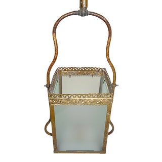 Late 19th Century Brass Gasolier Lantern For Sale