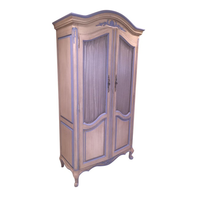 Antique Armoire With Matching End Tables - Image 1 of 6