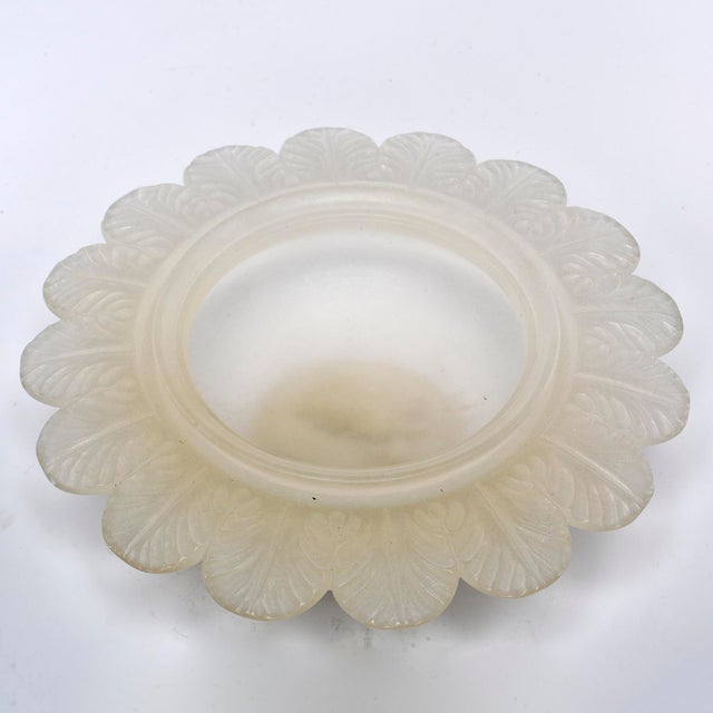 White New Italian Carved Alabaster Covered Bowl For Sale - Image 8 of 9