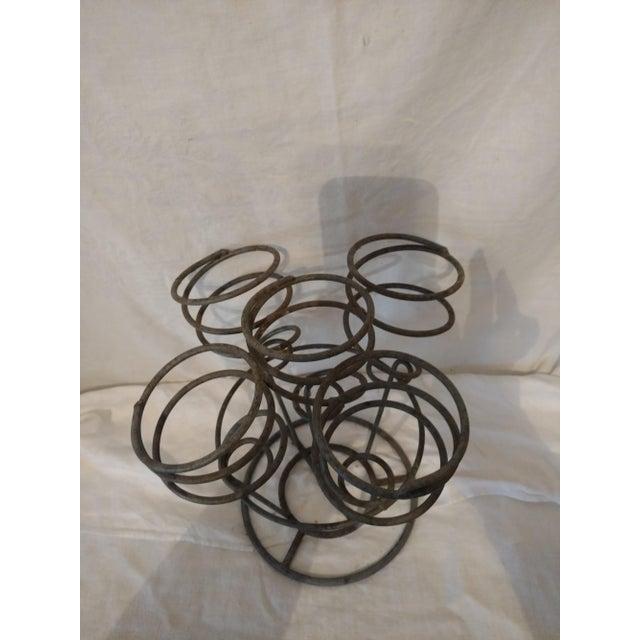 Spiral Gray Metal Wine Rack Holder - Image 4 of 5