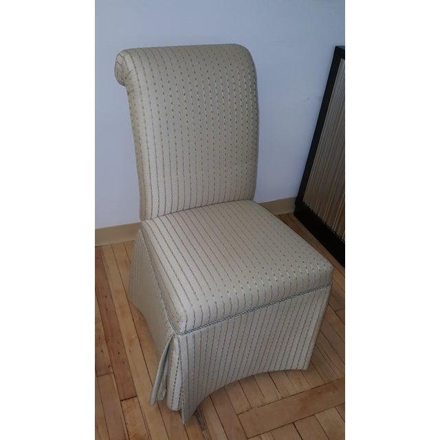 Modern Sherrill Furniture Upholstered Skirted Dining Chair Chairish