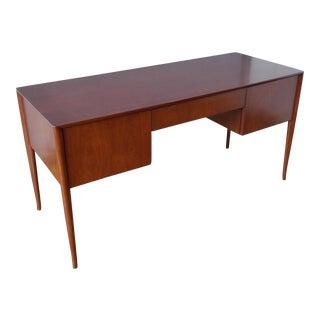 T. H. Robsjohn-Gibbings Walnut Desk For Sale