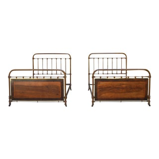 French Twin Bed Circa 1910 - a Pair For Sale