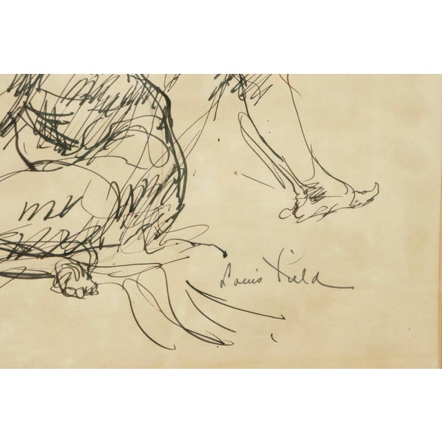 """Illustration """"Five Nudes"""" Line Drawing by Louis Field For Sale - Image 3 of 8"""