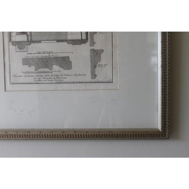 Paper Early 19th Century Antique Architectural Finestra Del Piano Ferreno Print For Sale - Image 7 of 9