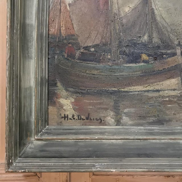 Mid-Century Modern Mid-Century Framed Oil Painting on Canvas by Hubert De Vries For Sale - Image 3 of 11
