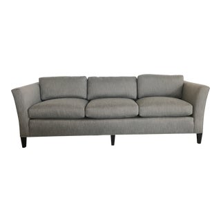 1970's Mid-Century Modern Drexel Heritage Newly Upholstered Gray Sofa