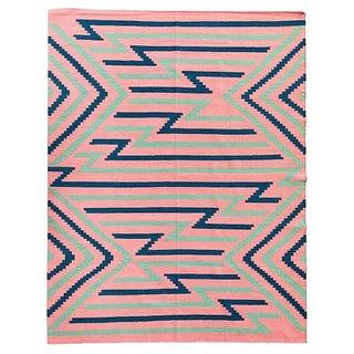 Flamingo Flatweave Southwestern Motif Rug 8' x 10'