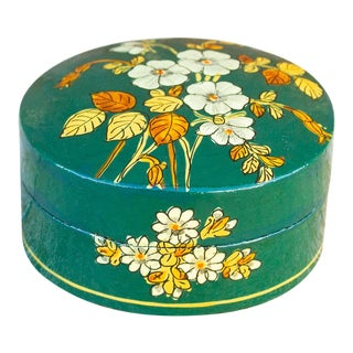 Floral Green Kashmiri Box For Sale