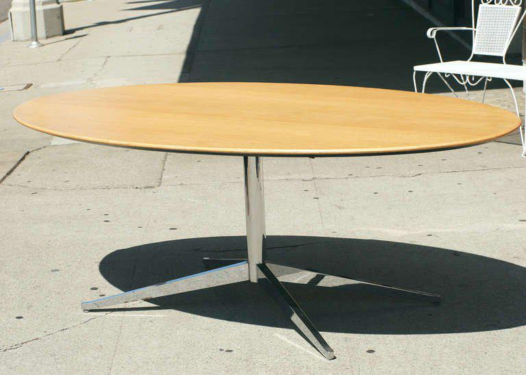 Florence Knoll Designed This Oak Dining Table For The Knoll Company. Table  Features 7u0027