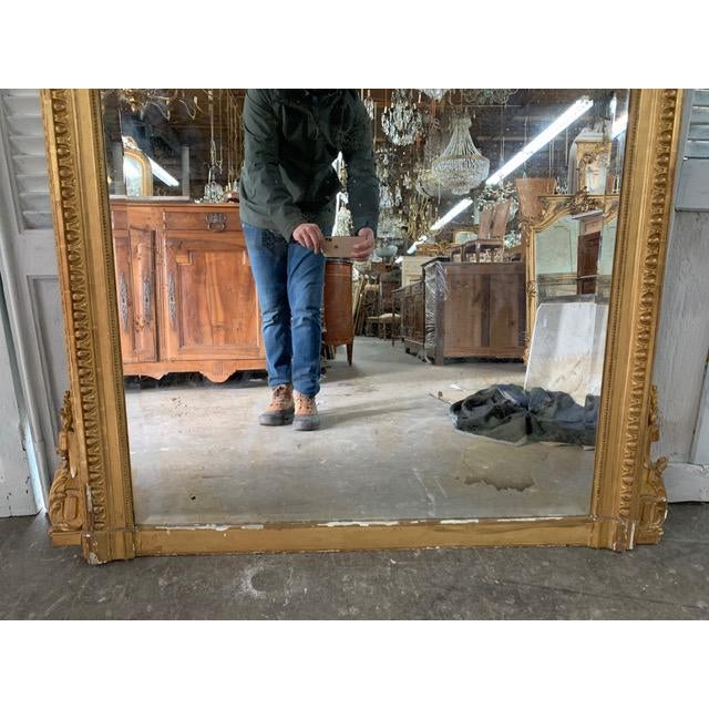 Gold 18th Century French Louis XVI Period Mirror For Sale - Image 8 of 10