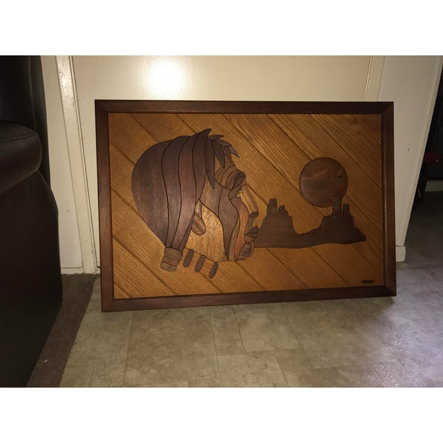 One of only 6 made, sold to me by the late Artist in 1970 at the Laguna Festival of Arts. Depicting an Indian Chief,...