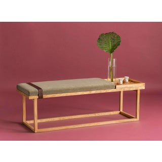 Ebb and Flow Tray Bench in Olive Preview