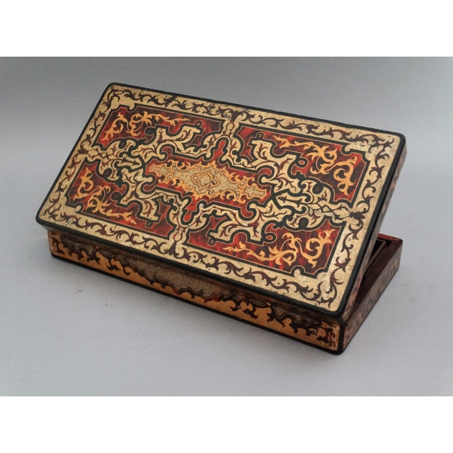 Bone 19th-Century French Playing Cards Box, Lock & Key, Counters For Sale - Image 7 of 8