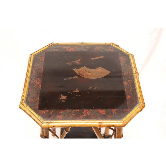 19th Century English Bamboo Lacquer Side Table - Image 3 of 6