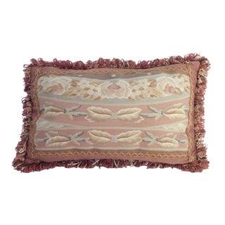 Vintage Mid Century Aubusson Pillow For Sale