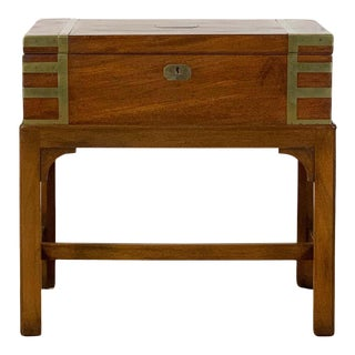 19th Century English Writing Box on Stand For Sale