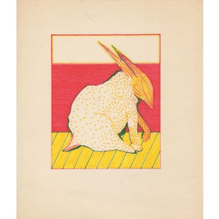 Magic Marker Rabbit Drawings - A Pair