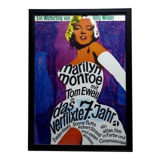 1955 Billy Wilder Marilyn Monroe Poster For Sale