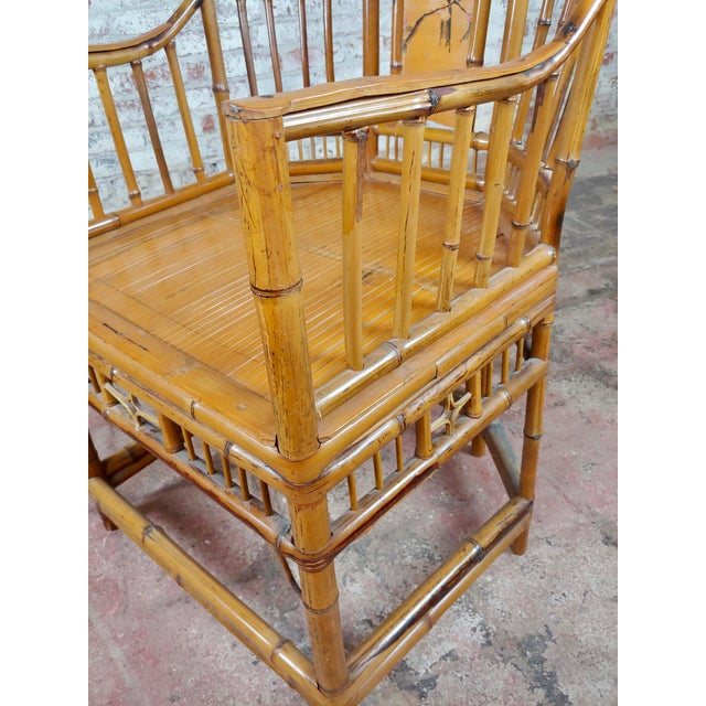 Wood Brighton Pavilion Chinoiserie Chippendale Bamboo Armchairs Circa 1920s - A Pair For Sale - Image 7 of 10