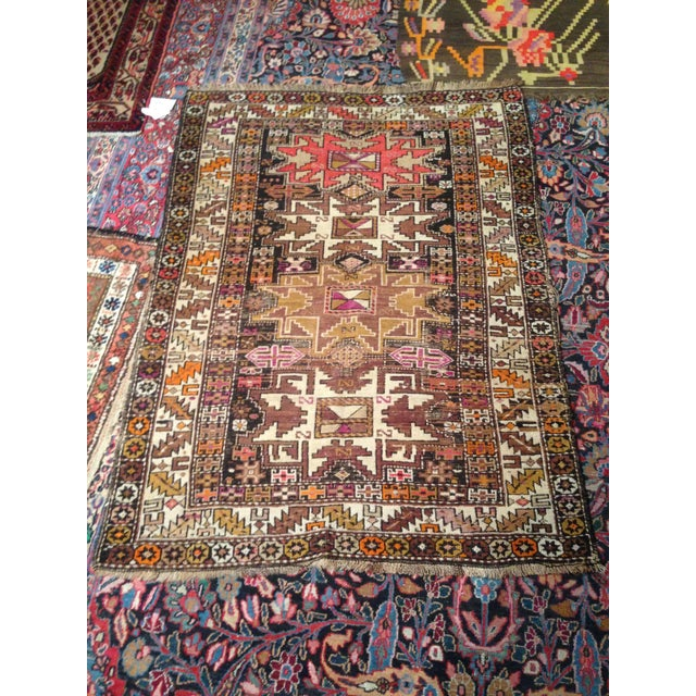 "Funky 1920s Russian Area Rug, 3'6"" X 4'9"" - Image 2 of 10"