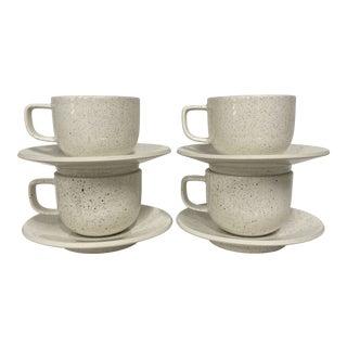 Vintage Post Modern Sasaki Mugs & Saucers Set- 8 Pieces For Sale