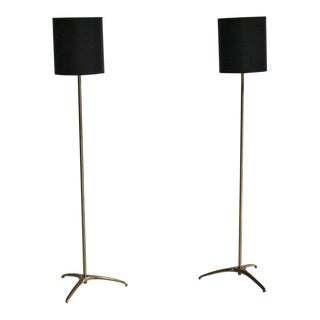 Svend Aage Holm-Sorenson Brass Floor Lamps For Sale
