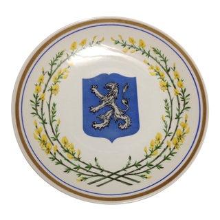 Lion Upsala Ekeby Swedish Mid Century Wall Plate For Sale