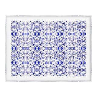 Kristi Kohut Original White & Blue Print For Sale