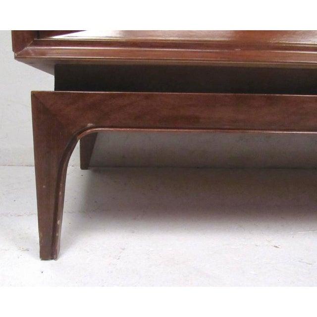 Brown Two-Piece Vintage Modern Sculpted Bedroom Dresser For Sale - Image 8 of 11