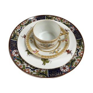 Imari Style Mixed Porcelain & Gold Place Setting - Set of 4 Preview