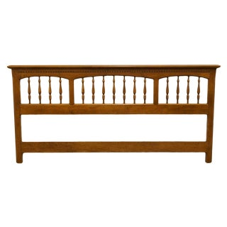 Ethan Allen Heirloom Nutmeg Maple King Size Headboard For Sale