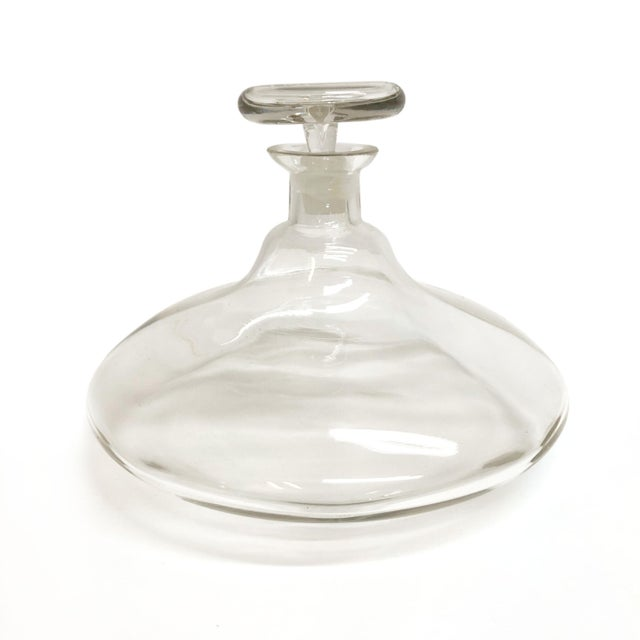 Mid Century Large Glass Decanter For Sale - Image 4 of 4