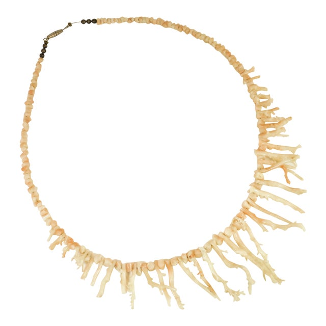 Angel Skin Coral Branch Necklace 1930s For Sale