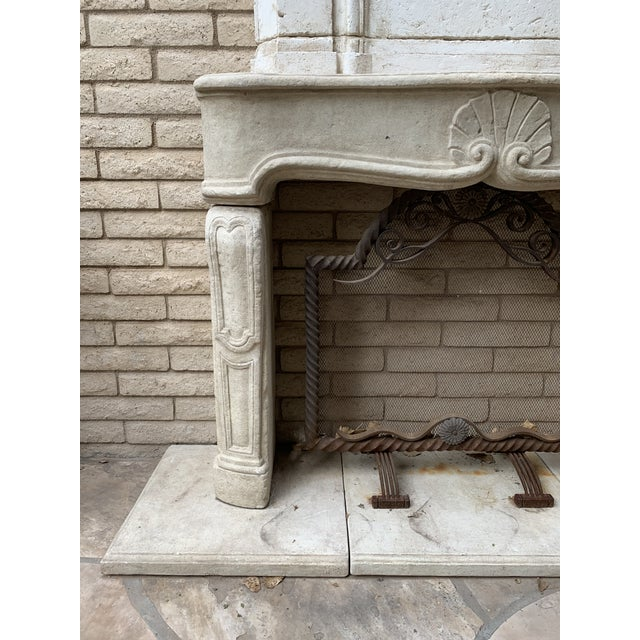 Huge beautiful Dennis and Leen Fireplace. Absolutely and iconic D&L piece. This was a showroom sample. Has light rust...