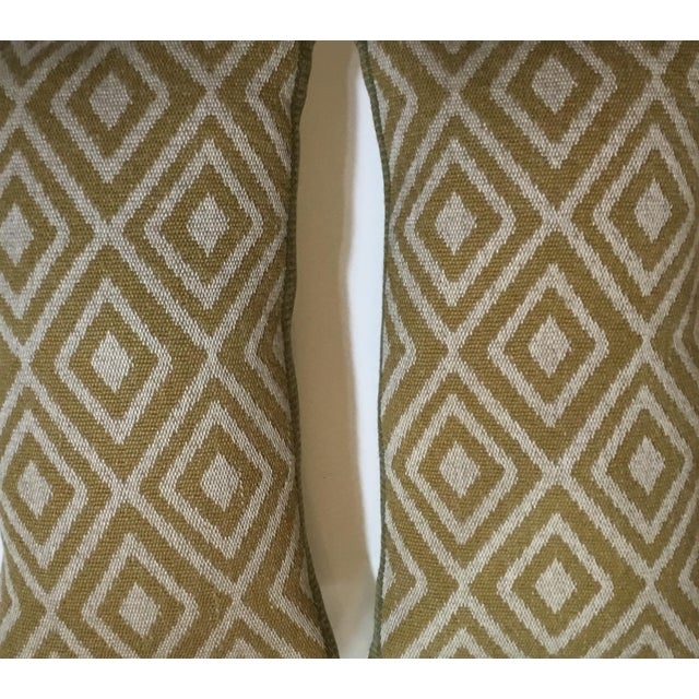 Vintage Geomtic Motif Pillows - A Pair - Image 5 of 9