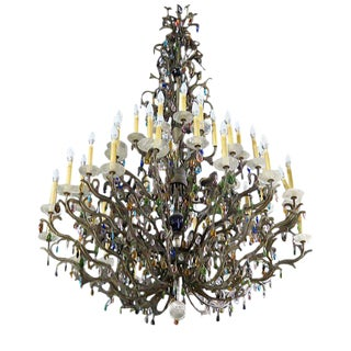 Early 20th Century Large Palatial French Chandelier For Sale