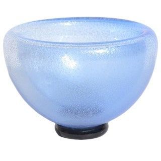 Double-Walled Blue Bowl by Gary Bolt For Sale