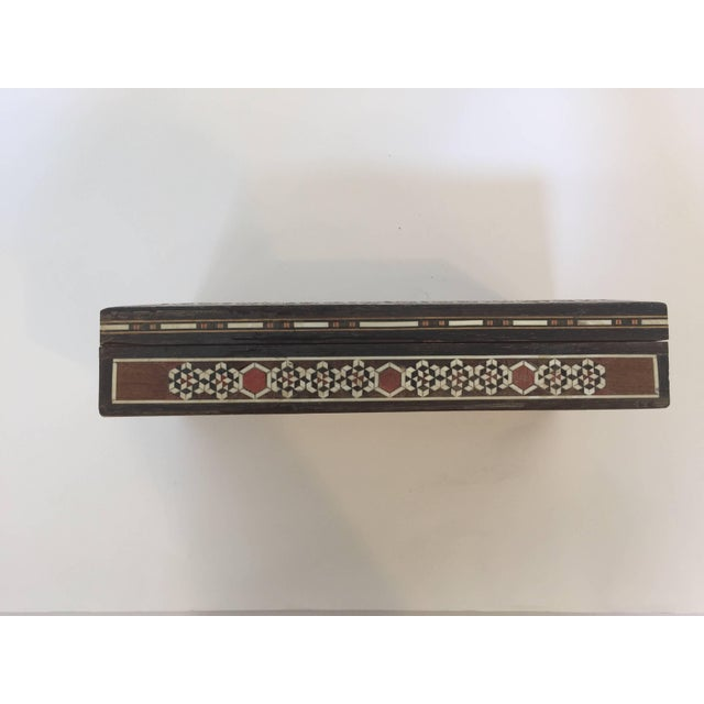 Syrian Inlay Jewelry Wooden Box For Sale In Los Angeles - Image 6 of 10