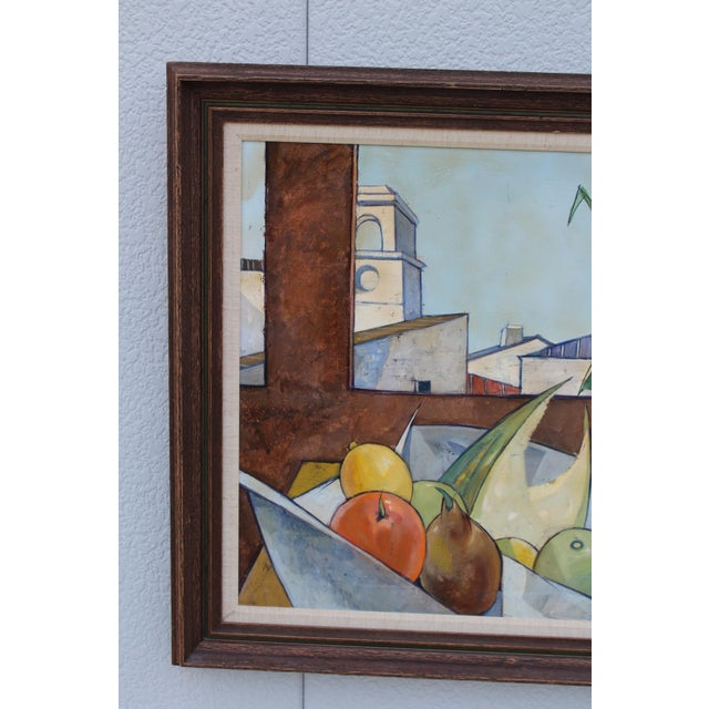 Canvas Oil on Canvas Artwork by French Artist Charles Levier For Sale - Image 7 of 11