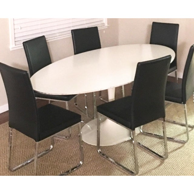 1960's Early Saarinen for Knoll Oval Tulip Dining Table For Sale In San Francisco - Image 6 of 11